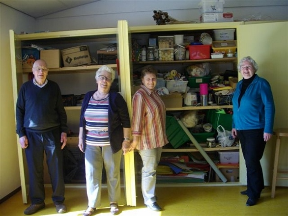 Van l.n.r. Bonne, Riek, Kea en Roelie (foto: Yvonne Suiver)