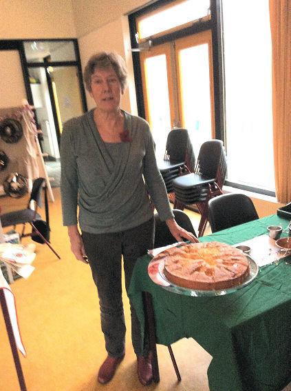 Emy had heerlijke cake gebakken.